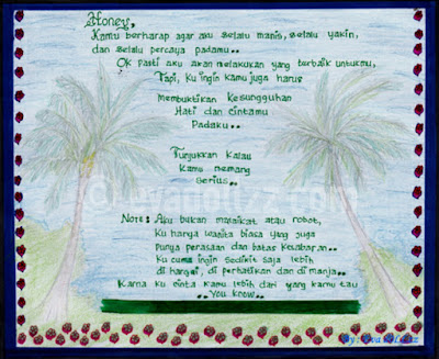 Honey, surat cinta.. Love always Good - Gambar Penuh Cinta