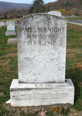 Tombstone James Mitchell Knight Greene County, Virginia  https://jollettetc.blogspot.com