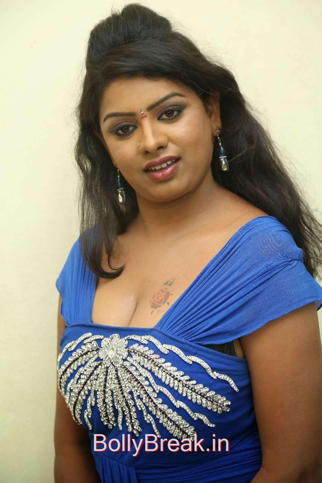 Sridevi Pictures, Sridevi Hot Pics In Blue Dress Romantic Target Movie Teaser Launch