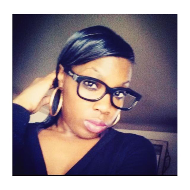 Black Hipster Glasses, Gold Hoop Earrings