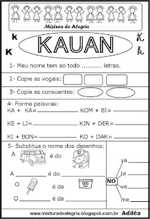 Brincando com os nomes -Kauan