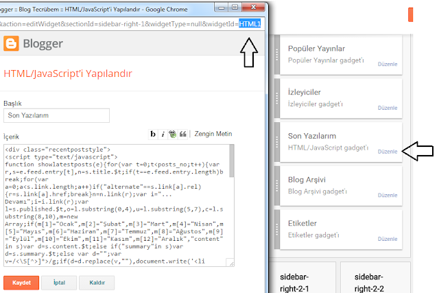 Blogger HTML widget