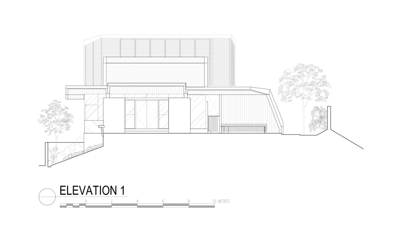 Elevation of an Impressive dream home in Singapore by a-dlab