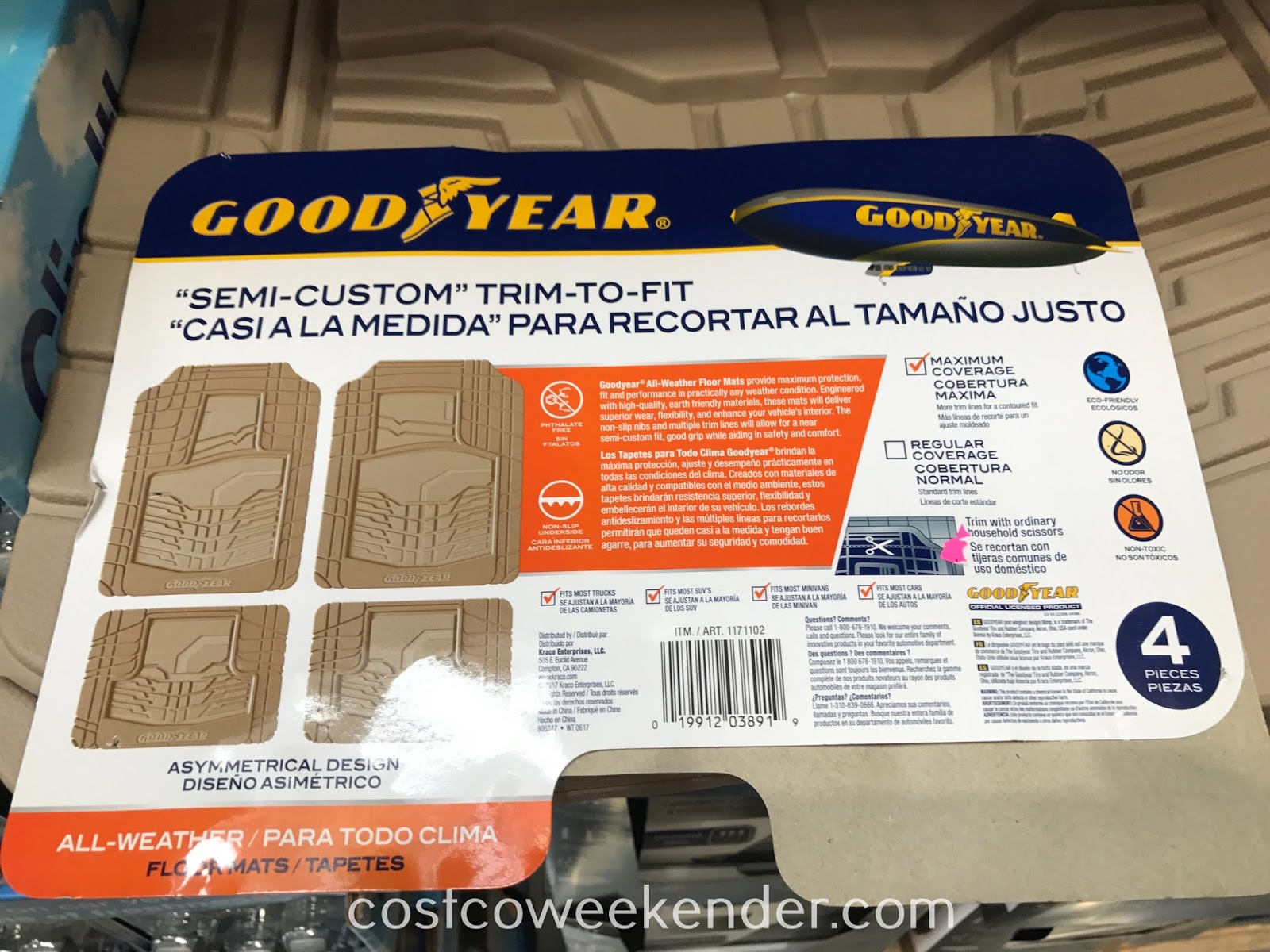 Goodyear All-weather Floor Mats: great for any car
