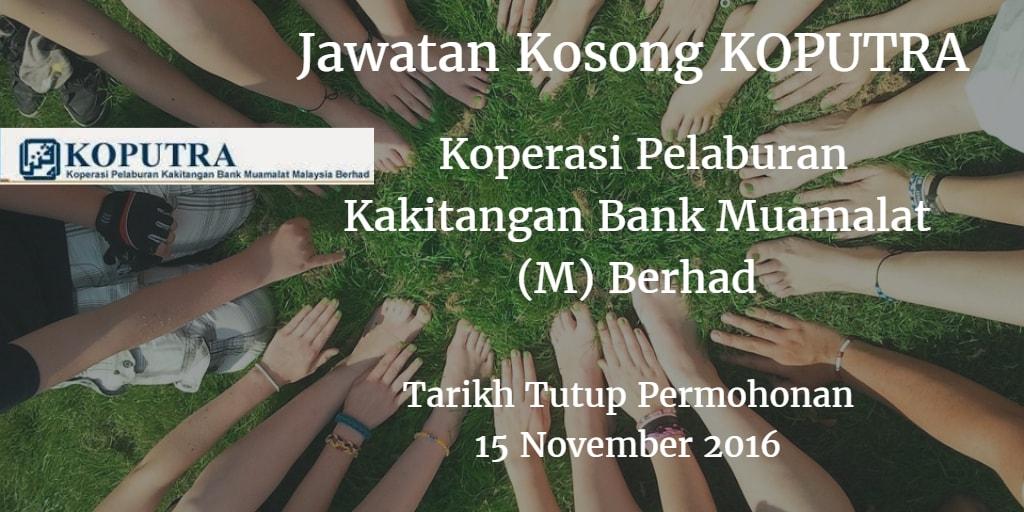 Jawatan Kosong  KOPUTRA 15 November 2016