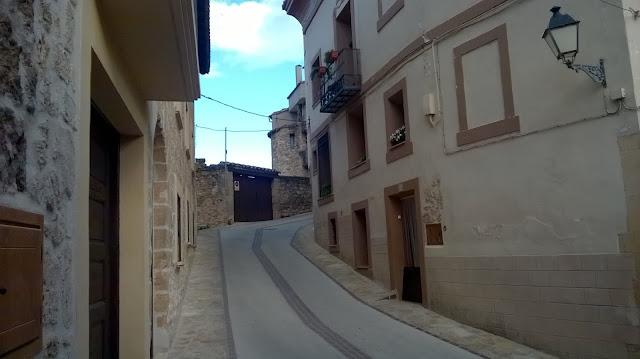 Subida hacia el portal de San Gregorio