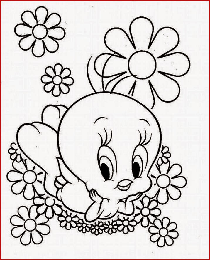 Coloring Pages: Tweety Bird free printable coloring pages ...