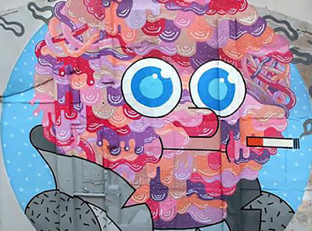 """Mr Beef"" Street Art By GR170 In Zaragoza, Spain For Asalto Urban Art Festival. 3"