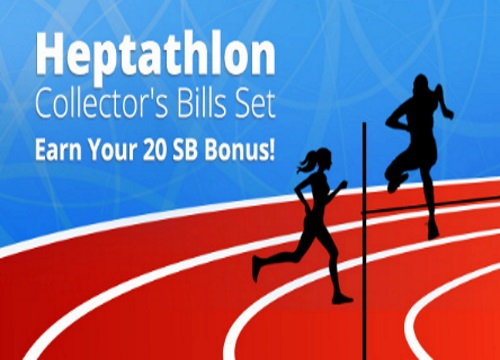 Swagbucks Heptathlon Collector's Bill Set 20SB Bonus