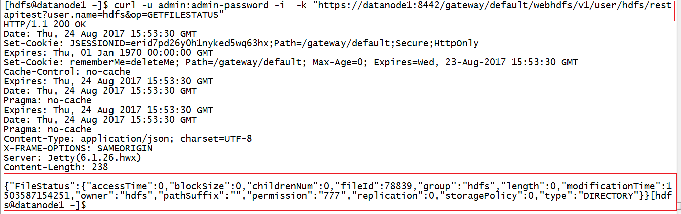 Hadoop Lessons: HDFS REST API example with Knox gateway and