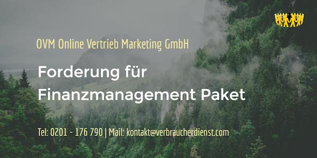 Titelbild: OVM Online Vertrieb Marketing GmbH fordert für Finanzmanagement Paket