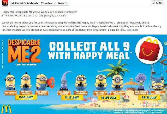 macdonald, mcd happy meal, minions, despicable me 2, minions toys, gru