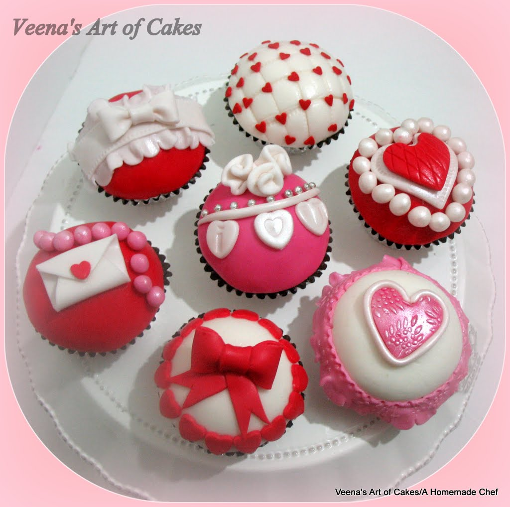 Valentine Inspired Cupcakes And Stenciled Wedding Cupcakes