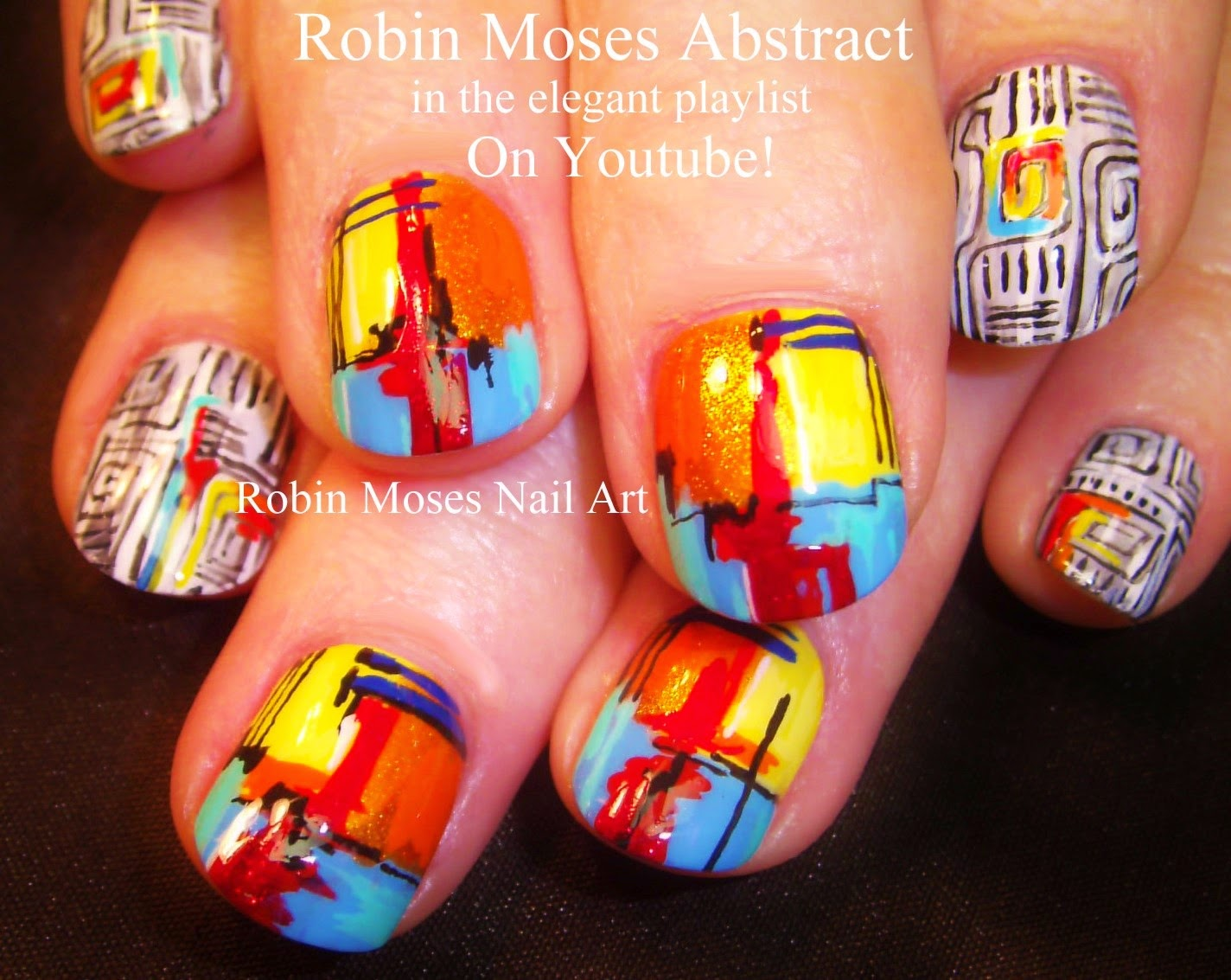 "Robin Moses Nail Art: ""abstract nails"" ""art nails"