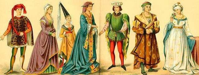 Valen m s mil palabras que una imagen vestimenta medieval occidental i colores tejidos y - Ropa interior medieval ...