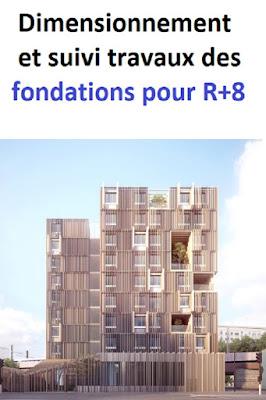 Rapport de stage : Dimensionnement et suivi des travaux des fondations d'un immeuble R+8