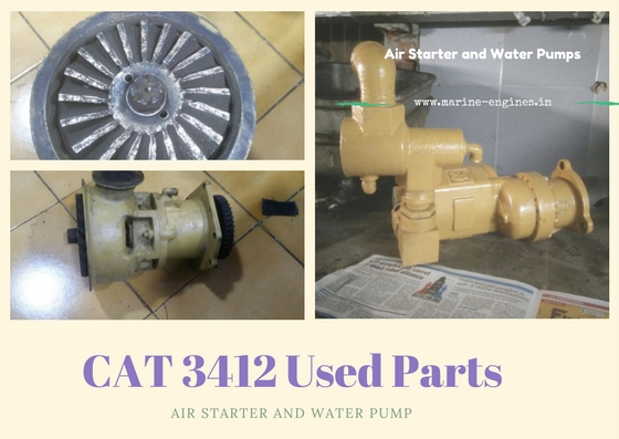 Raw Water Pump, Air Starter, used, second hand, recondition, Ship machine, Caterpillar machine, CAT engine part, Genuine , OEM , Reliable, ready to install, dispatch, RPM, Order
