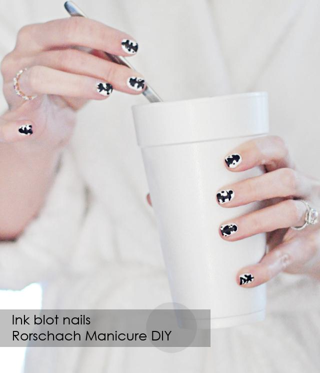 Rorschach Manicure, Halloween Nails