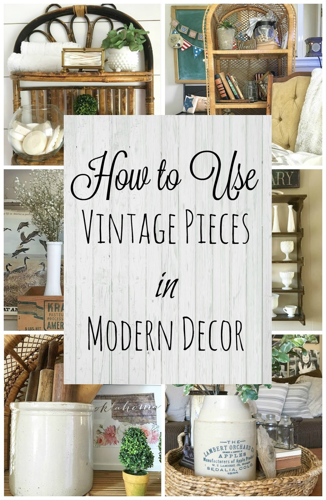 Farmhouse for five how to use vintage pieces with modern for Decoration usine vintage