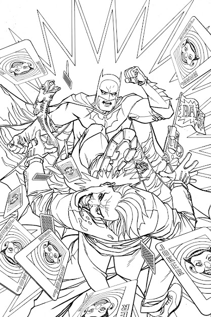 Batman  Adult Coloring Book Variant Cover By Dave Johnson