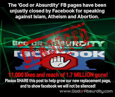 God or Absurdity Facebook Page Still Getting Censored