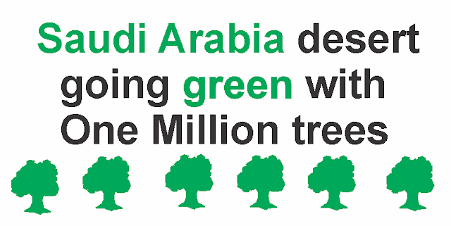 Saudi Arabia Going Green Plan One Million Trees