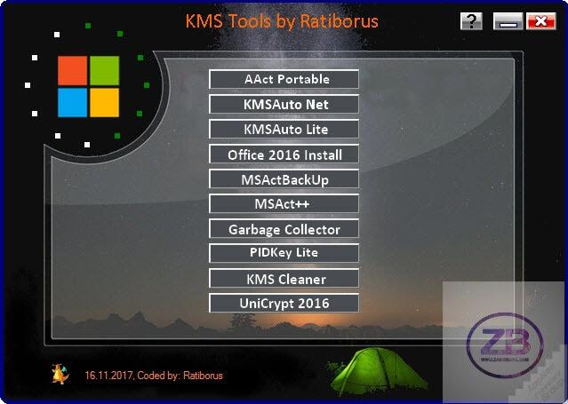 Ratiborus KMS Tools 23.06.2017 Portable Free Download