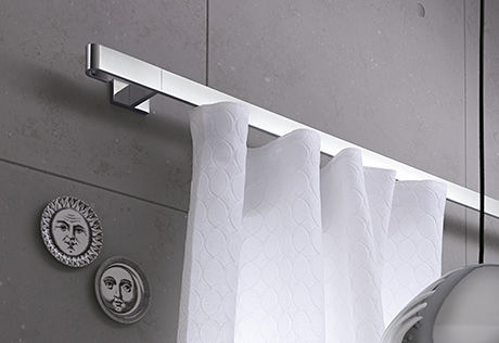 JAB Is A European Company With Roots In Germany The Image Below Depicts Stainless Steel Flat Curtain Rod Low Profile And Clean Lines