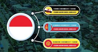 Jadwal Timnas Indonesia di Aceh World Solidarity Tsunami Cup 2017