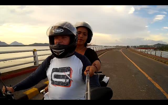 Najdłuższy most na Filipinach my na motorze