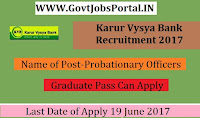 Karur Vysya Bank Recruitment 2017– Probationary Officers