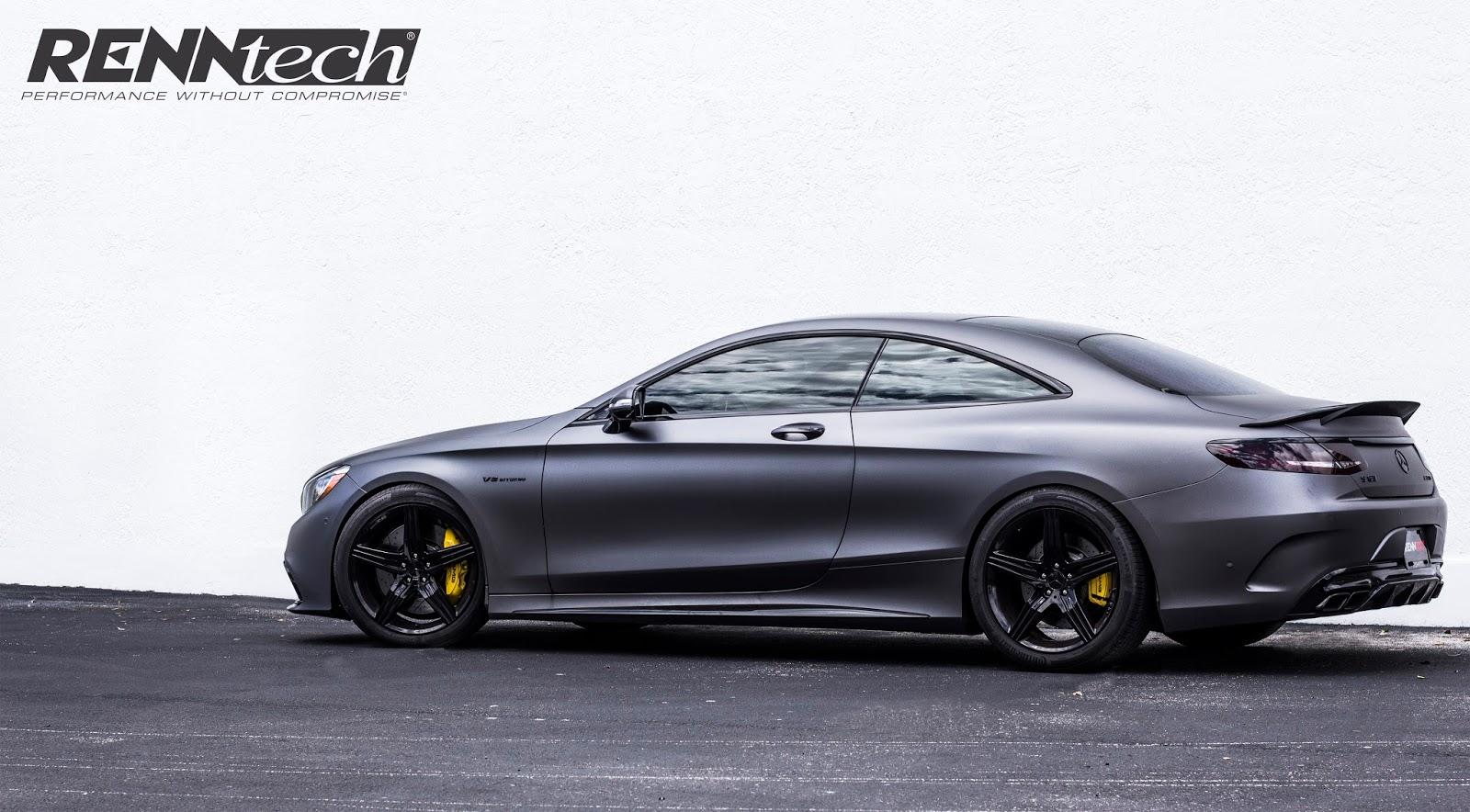 Renntech news renntech s 63 amg coup matte black for Mercedes benz matte black