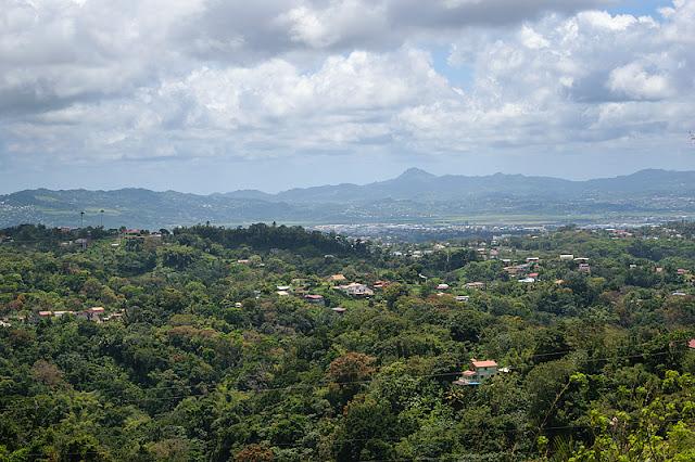 Panorama depuis les hauteurs de la route de la Trace
