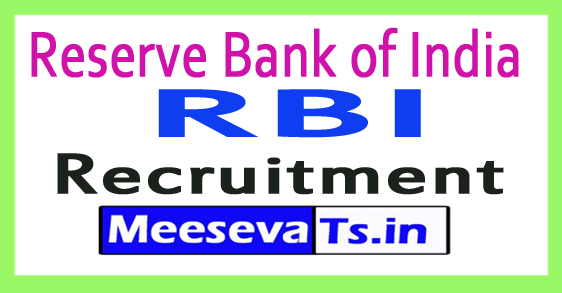 Reserve Bank of India RBI Recruitment Notification 2017
