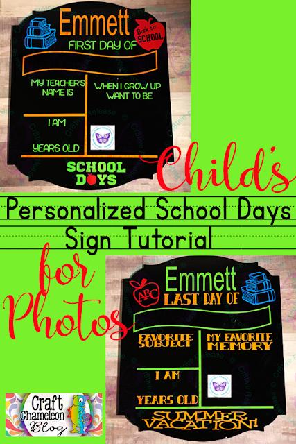 Acrylic Blank for DIY a reuseable photo board through all the school years