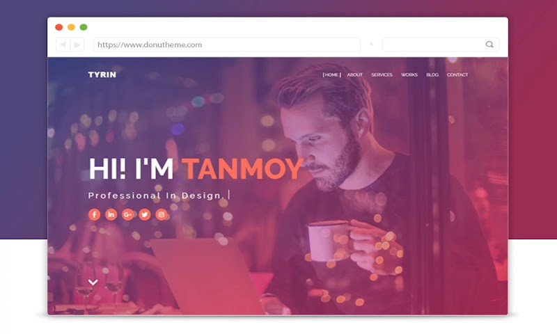 Tyrin Portfolio Blogger Template - Responsive Blogger Template