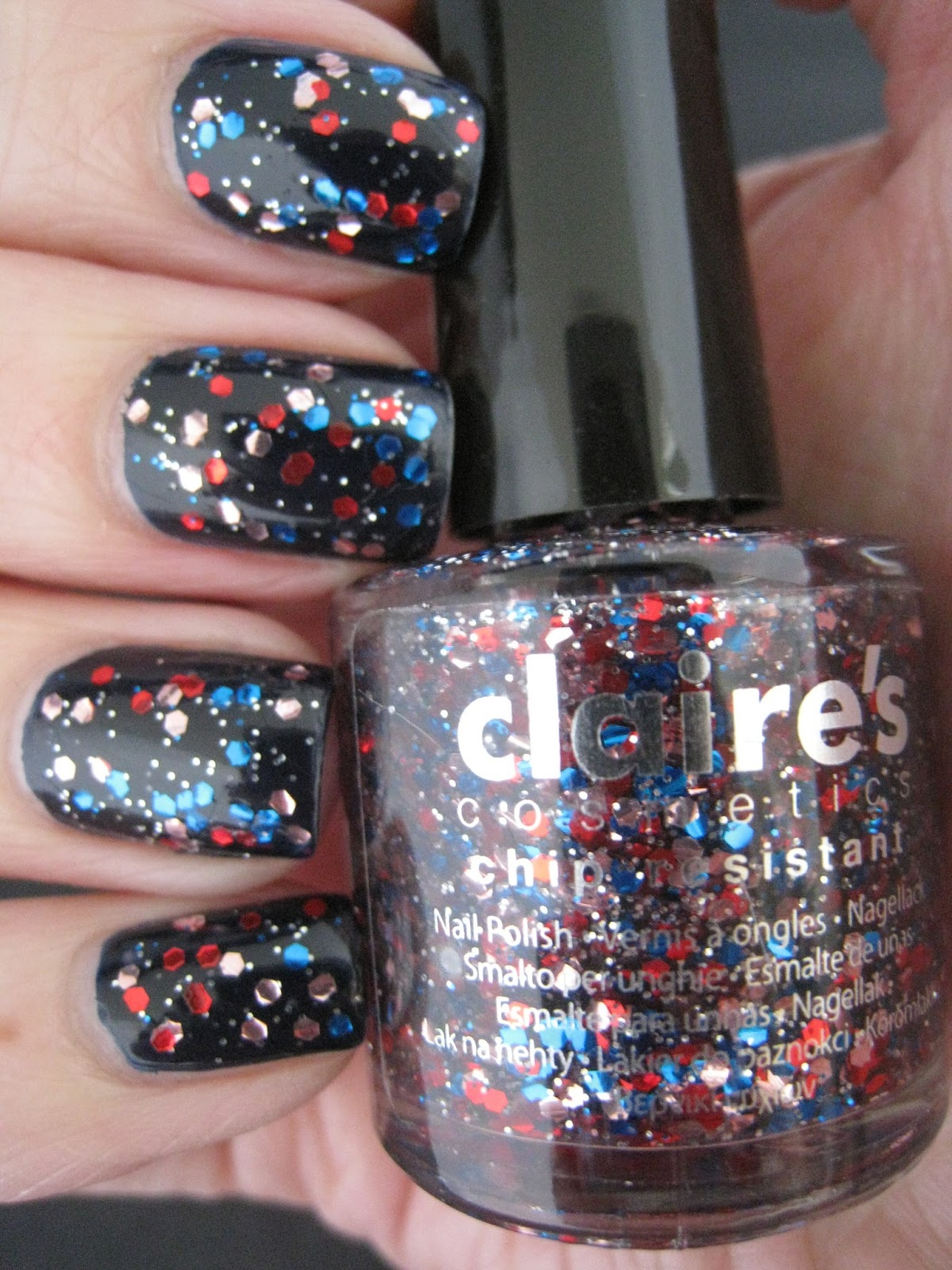Naily Perfect Blue Red And Pink Glitter Or Why Claire S Accessories Should Name Their Polishes