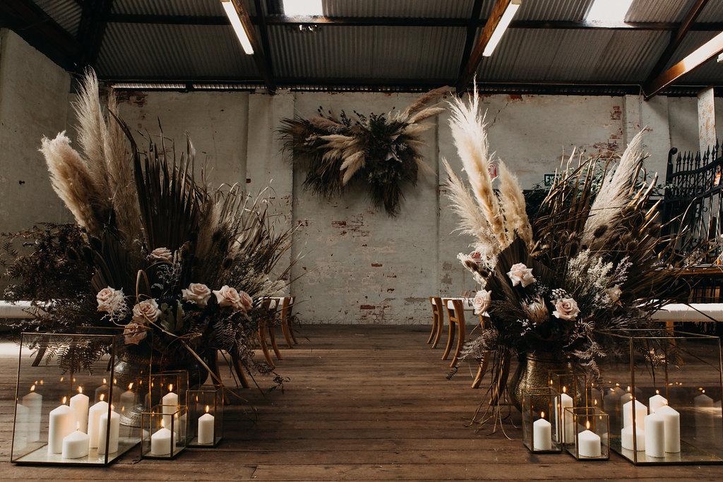 STYLED: DARK LUXE EARTHY BOHEMIAN WAREHOUSE WEDDING INSPIRATION   ALBANY WA