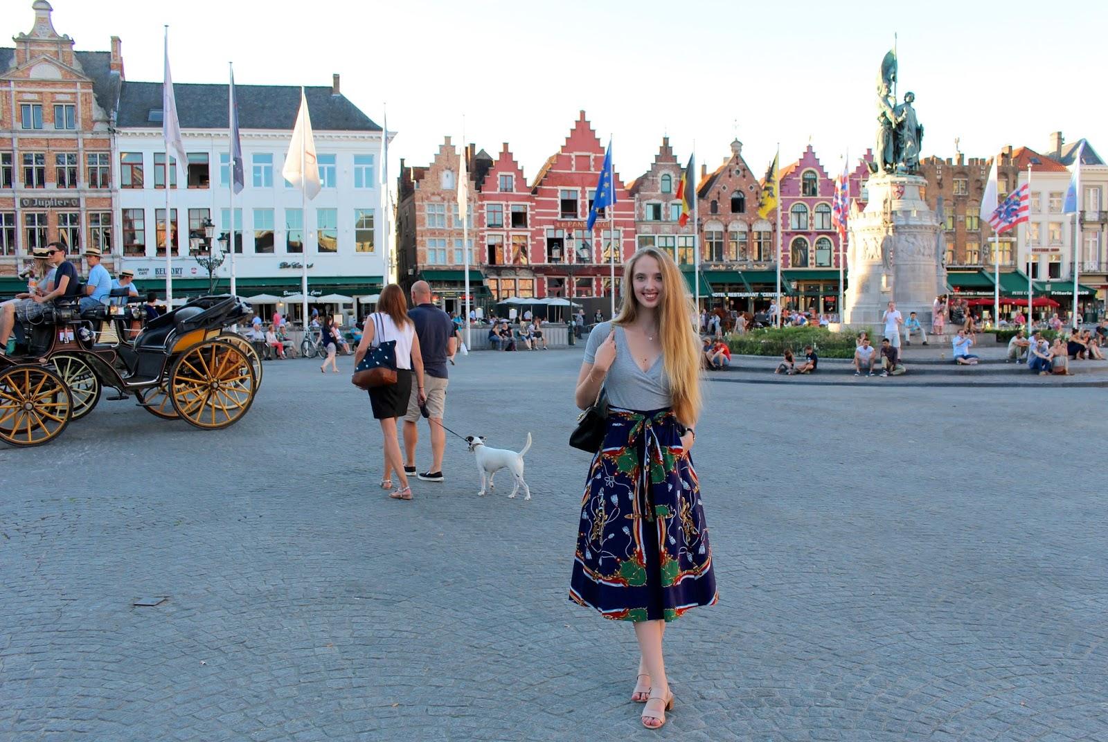 Zara navy blue midi skirt