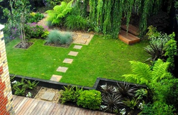 ... Beautiful Yard Of Vivid Decorative Plants As Well As Green Residential  Beautiful. To Include Your Idea Of Creating A Tiny Garden Behind Your  House, ...