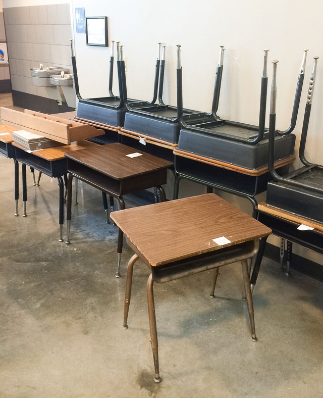 vintage school desks