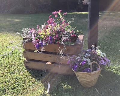 Flores silvestres decorando los rincones del jardín del ParkHotel de Andorra
