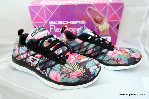Skechers flamingo trainers