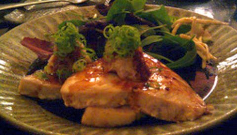 Grilled Swordfish with Soy Sauce and Salad