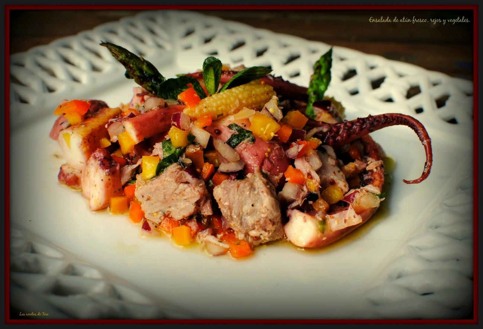 ensalada de atún fresco rejos y vegetales tererecetas 05