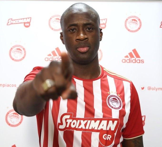 Football club Olympiacos terminates Yaya Toure's contract after just three months