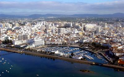 imagem aérea de Faro – Portugal