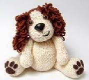 patron gratis perro amigurumi de punto | free knit amigurumi pattern dog
