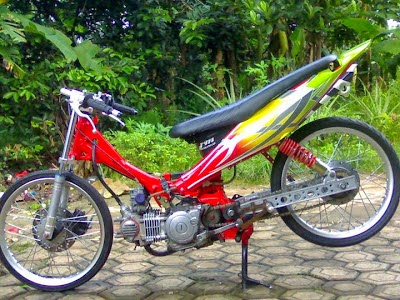 Modif yamaha motor vega drag bike race ciamik