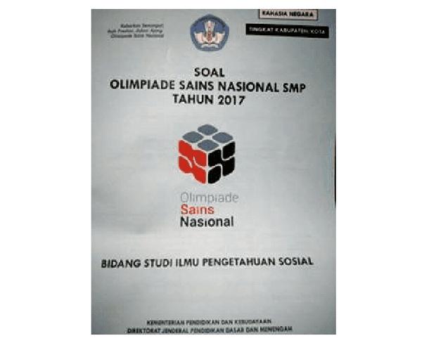 Seri Soal OSN IPS Tahun 2017-2018